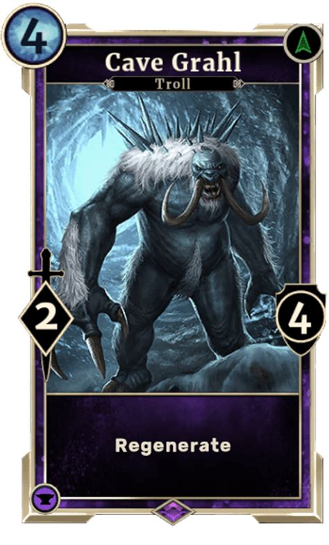 elder scrolls legends card template epic endurance purple creature cards elder scrolls