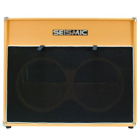 2x12 guitar cabinet empty seismic audio 2x12 empty guitar speaker cabinet orange