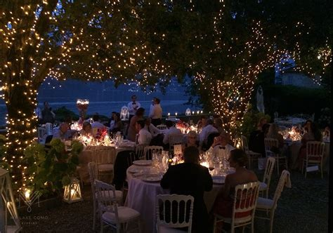 Villa Teodolinda outdoor wedding dining under a canopy of