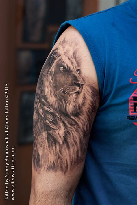 8 best images about awesome lion tattoo designs for men amazing lion tattoo by sunny bhanushali at aliens tattoo