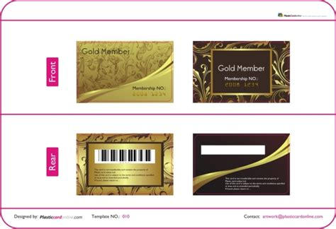 membership card template business cards free business card templates