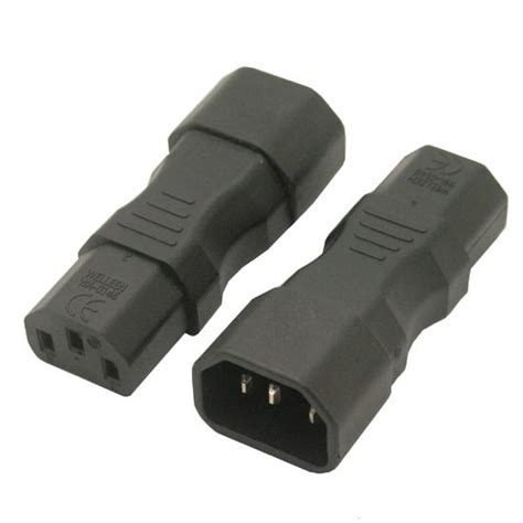 Iec 320 C14 To C13 10a Power Adapter Pdu Ups iec 320 3pin to adapter c13 to c14 c14 to c13 wa 0146 ebay