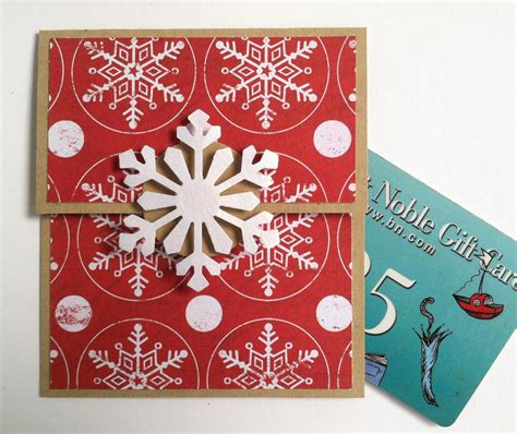 snowflake gift card holder christmas gift card holder