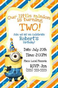 25 best ideas about minion birthday invitations on