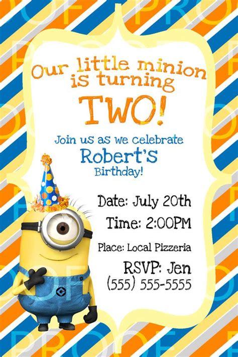Handmade Minion Invitations - best 25 minion birthday card ideas on owl