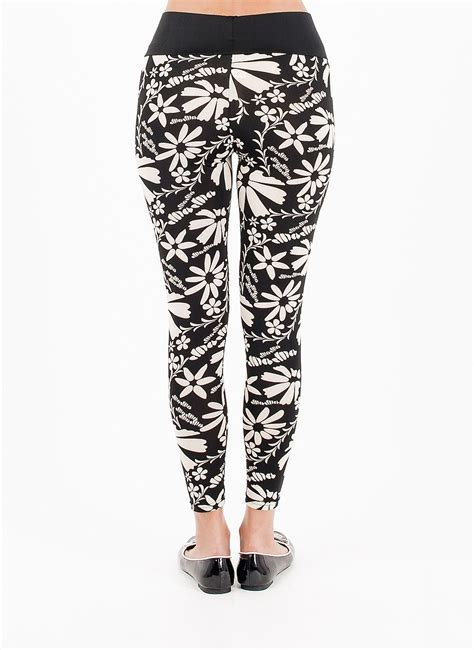 White Patterned Tights | black and white patterned leggings black floral leggings