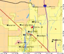 peoria arizona map peoria arizona az profile population maps real