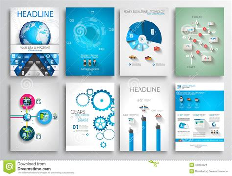 Set Of Flyer Design, Web Templates. Brochure Designs Stock