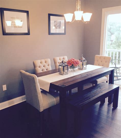 dining room avondale macy table bench fabric chairs target