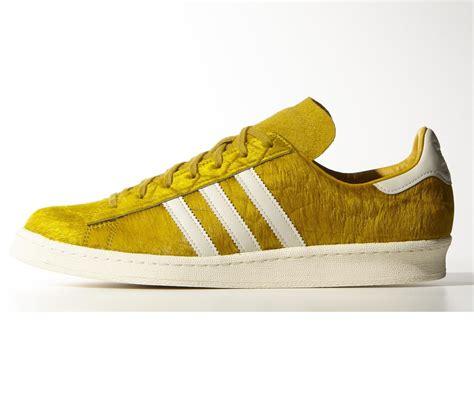 yellow adidas sneakers new mens adidas originals cus 80 s pony hair yellow