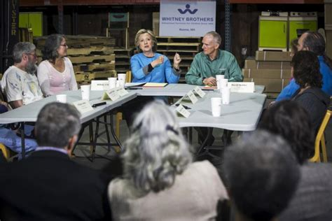 where does hillary clinton work hillary clinton makes first appearence in new hshire