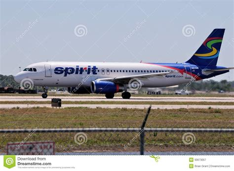 Rsw Airport Transportation Mba by Spirit Airlines Airbus A320 Editorial Photography Image