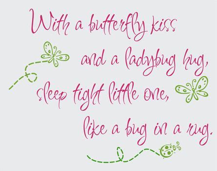 With a Butterfly Kiss and a Ladybug Hug Vinyl Design