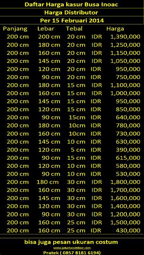 Kasur Inoac 25cm distributor resmi kasur busa inoac februari 2014