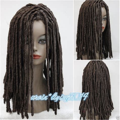 real dreadlock wigs fairy ladies wig dreadlock wigs long medium brown curls