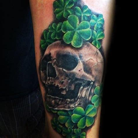 4 leaf clover tattoos for men 50 shamrock designs for ireland ink ideas