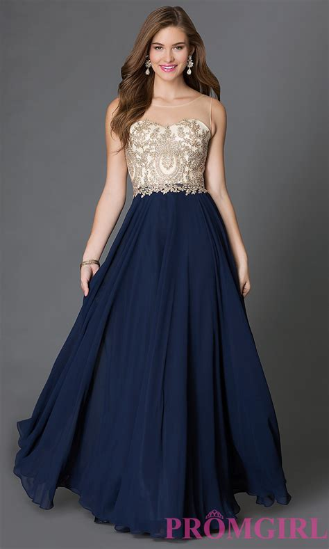 Prom Gowns by Floor Length Sleeveless Prom Dress Promgirl