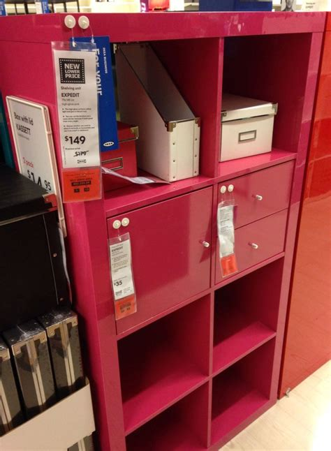 ikea expedit pink shelving unit house ideas
