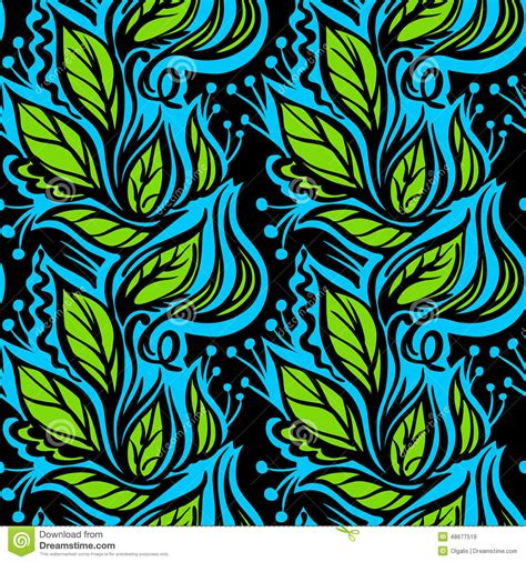 design pattern used in spring spring leaves seamless pattern stock illustration image