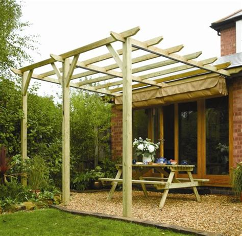 Garden Awnings Uk by Rowlinson Wooden Lean To Canopy Pergola