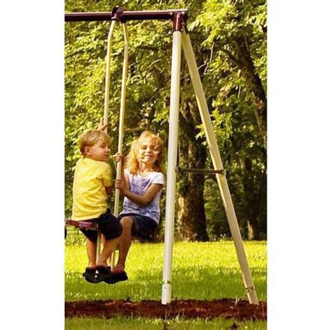 flexible flyer play park metal swing set flexible flyer play park flyer outdoor metal swing set