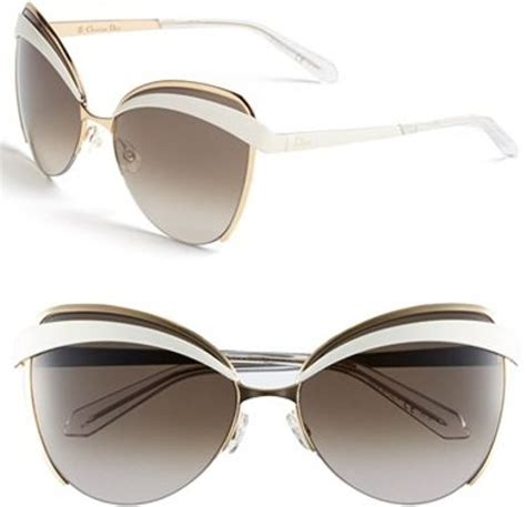 dior 'eyes 1' 60mm metal butterfly sunglasses in pink