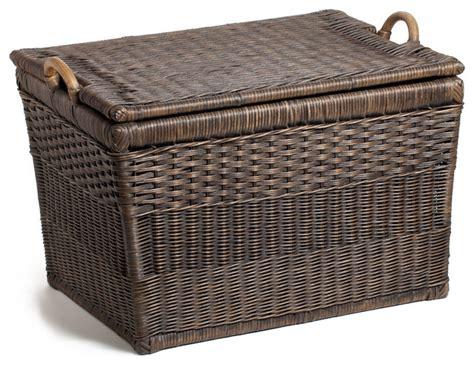 decorative covered baskets lift off lid wicker storage basket decorative trunks