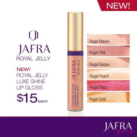 Lip Gloss Jafra drench your in pout perfecting royal jelly http
