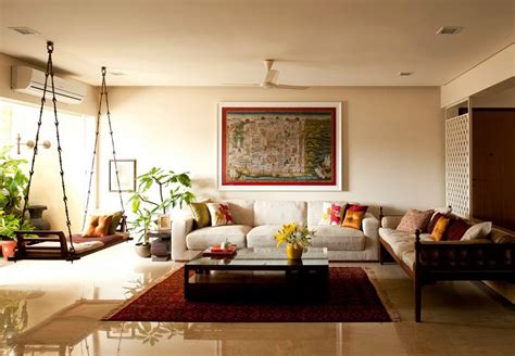 Interior Decoration Indian Homes | traditional indian homes wooden swings swings and tapestry