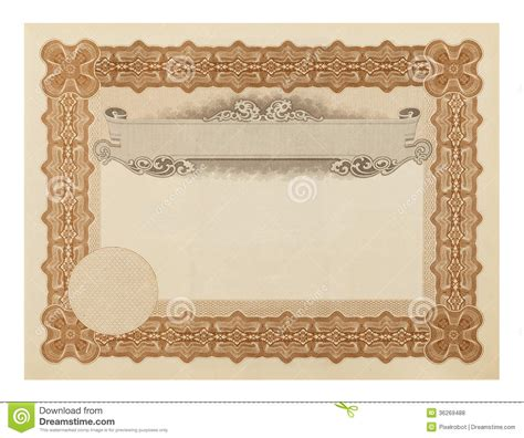 stock certificate royalty free stock photos image 36269488