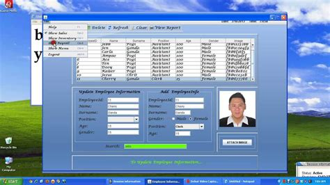 sle swing program in java java customized system employeeinfo inventory and sale