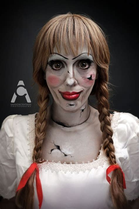 annabelle doll halloween makeup annabelle quot 31 days of halloween quot makeup by amanda chapman