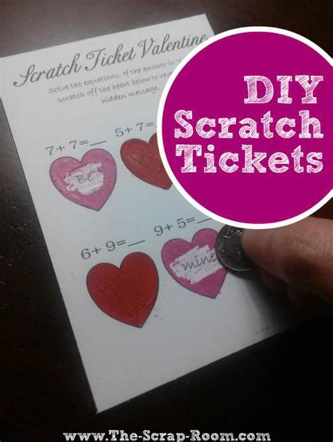 Diy Scratch Cards Template by Card Diy Scratch Ticket Tutorial And Templates