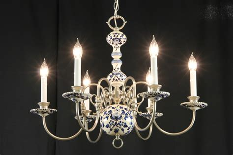 China Chandeliers Sold Blue Delft China Pewter Vintage Chandelier Harp Gallery Antique Furniture