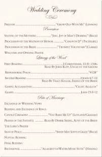 catholic wedding programs 7 catholic wedding program resume reference