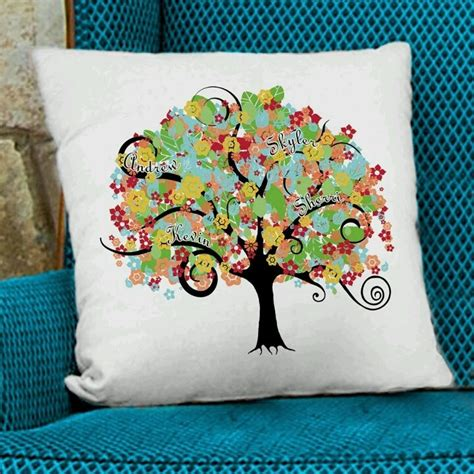 embroidered family tree throw pillow ideas for momba