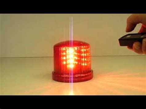 Red Battery Powered Led Warning Beacon With Remote Youtube Where Can I Buy Battery Operated Lights