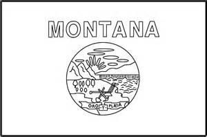 Montana State Flag Coloring Page montanakids activities and