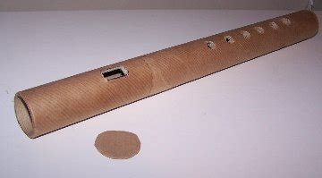 How To Make A Paper Flute - how to make a flute