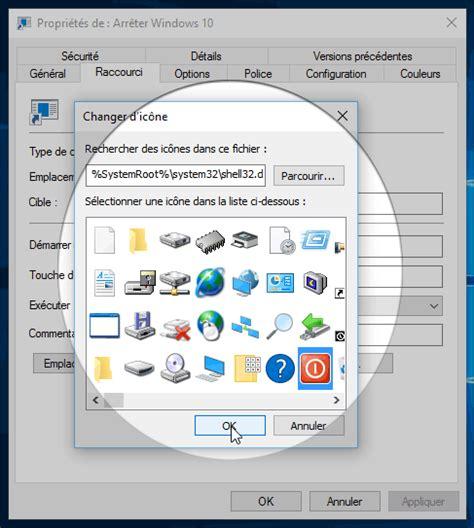 mettre un icone sur le bureau windows 10 cr 233 er un raccourci pour arr 234 ter ou 233 marrer