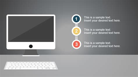 modern computer desk powerpoint template slidemodel
