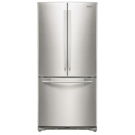 cabinet depth refrigerator lowes shop 17 5 cu ft 3 door counter depth french door