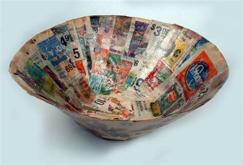 Paper Mache Bowls - crafty challenge 3 paper mache bowl the crafty