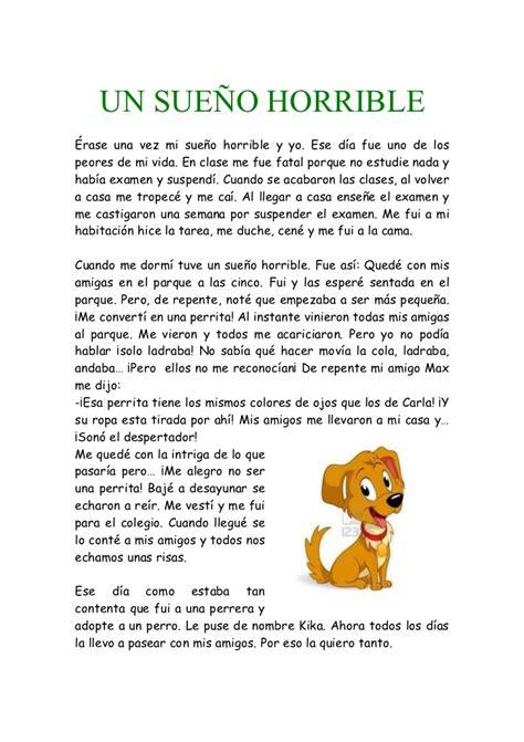 un testo narrativo eres un animal producci 243 n de textos texto narrativo