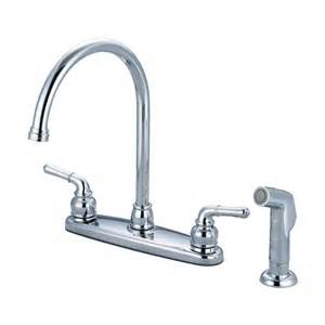 two kitchen faucet olympia faucets k 5342 accent two handle kitchen faucet with side spray atg stores