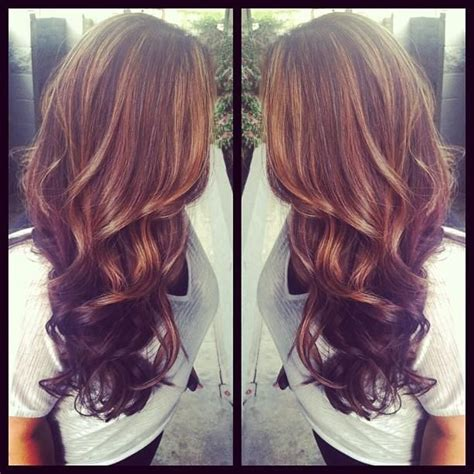 hair highlights and lowlights for brown hair light brown highlights dark brown lowlights thick curls