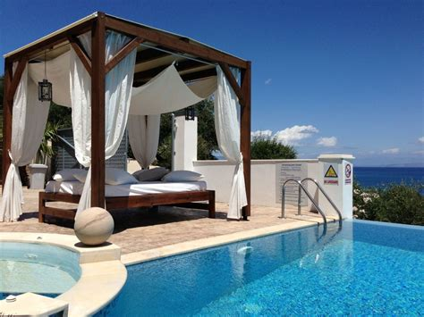 pool beds luxury villa with a private pool in corfu homeaway