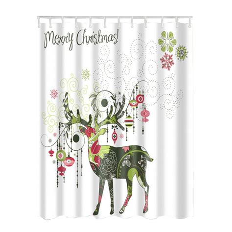 christmas bathroom curtains christmas waterproof bathroom fabric shower curtain