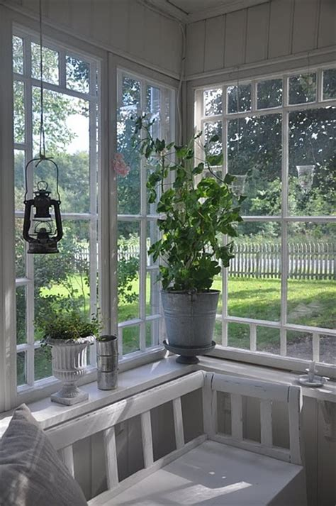 Sun Porch Windows Pretty Swedish White Back Gassed Porch With Hanging