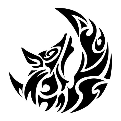 tribal wolf and moon tattoo wolf tattoos designs ideas and meaning tattoos for you